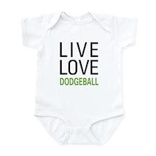 Live Love Dodgeball Infant Bodysuit
