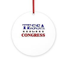 TESSA for congress Ornament (Round)