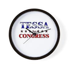 TESSA for congress Wall Clock