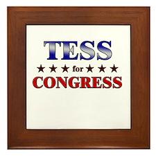 TESS for congress Framed Tile