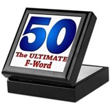 50 the ultimate f word Square Keepsake Boxes