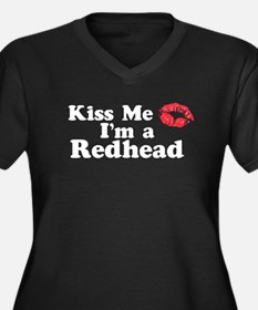Kiss Me I'm a Redhead Women's Plus Size V-Neck Dar