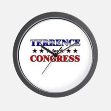TERRENCE for congress Wall Clock
