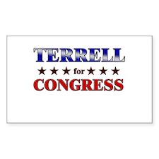 TERRELL for congress Rectangle Decal