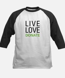 Live Love Donate Kids Baseball Jersey
