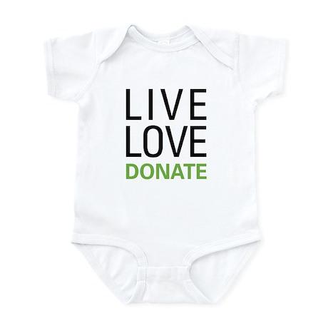 Live Love Donate Infant Bodysuit