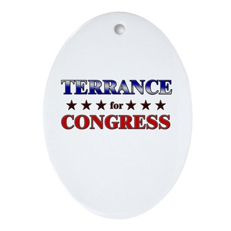 TERRANCE for congress Oval Ornament