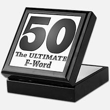 50: The ULTIMATE F-Word (bw) Keepsake Box
