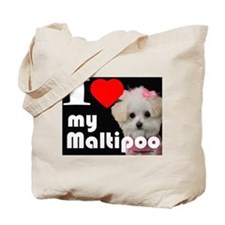 NEW I LOVE My Maltipoo Tote Bag