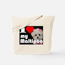 NEW I LOVE My Maltipoo Tote Bag