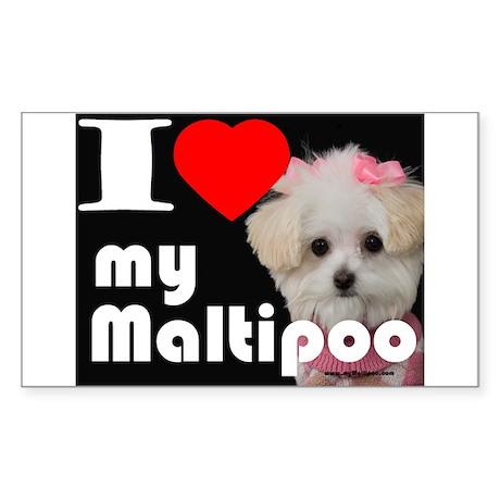 NEW I LOVE My Maltipoo Rectangle Sticker