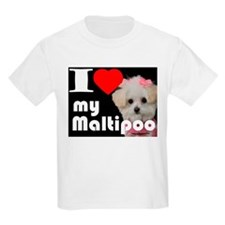 NEW I LOVE My Maltipoo T-Shirt