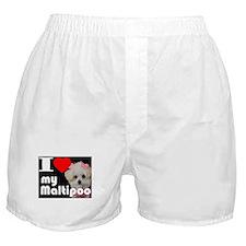 NEW I LOVE My Maltipoo Boxer Shorts