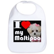 NEW I LOVE My Maltipoo Bib