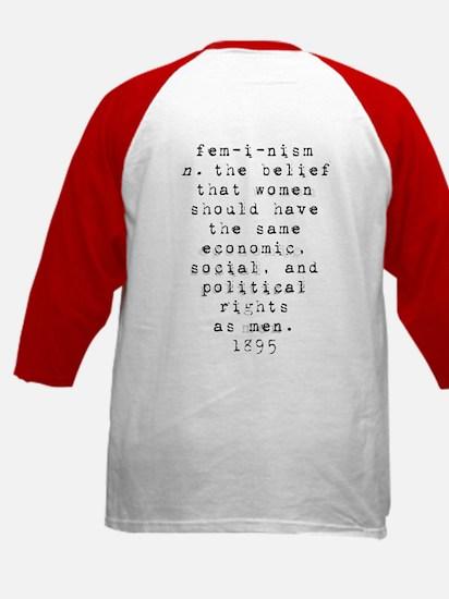 Definition of Feminism Kids Baseball Jersey