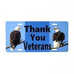 Thanks Veterans Aluminum License Plate