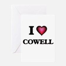 I Love Cowell Greeting Cards
