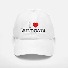 I Love WILDCATS Baseball Baseball Cap