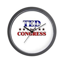 TED for congress Wall Clock
