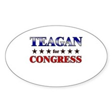 TEAGAN for congress Oval Decal