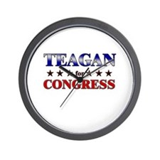 TEAGAN for congress Wall Clock