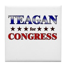 TEAGAN for congress Tile Coaster