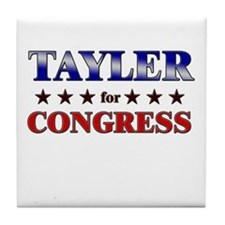 TAYLER for congress Tile Coaster