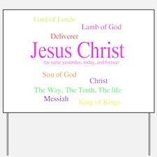 Names of Jesus Yard Sign
