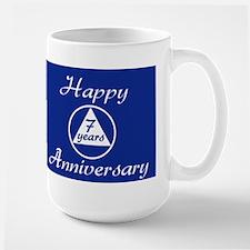 years of gratitude sobriety milestone Large Mug