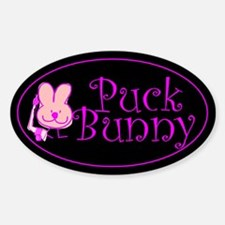 Oval Sticker. Puck Bunny.