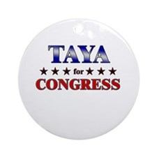 TAYA for congress Ornament (Round)