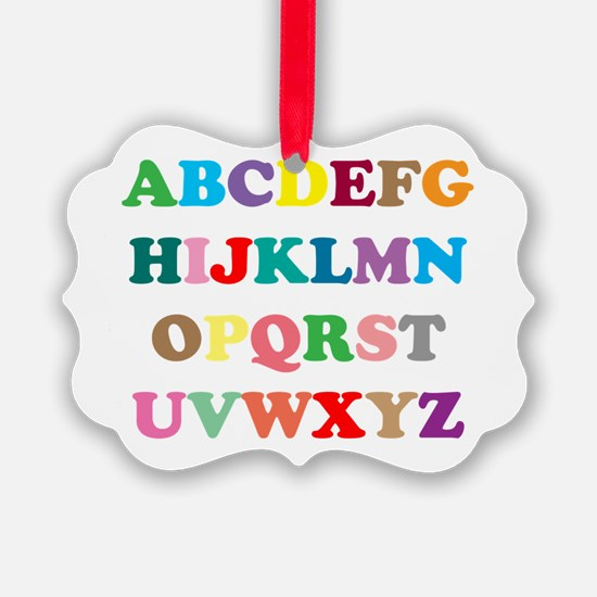 ABC text illustration Ornament