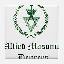 Allied Masonic Degrees AMD Tile Coaster