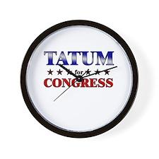 TATUM for congress Wall Clock