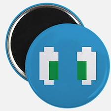 8 Bit Pixel Manga Green Eyes Magnets