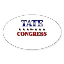 TATE for congress Oval Decal