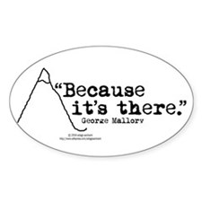Because it's there Oval Bumper Stickers