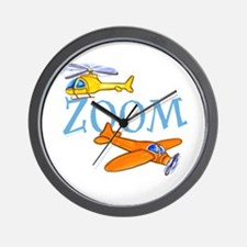 Airplane ZOOM Wall Clock