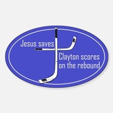 Travis Clayton scores Oval Decal