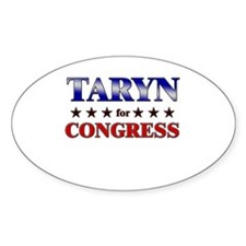TARYN for congress Oval Decal