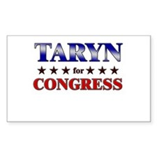 TARYN for congress Rectangle Decal