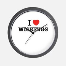 I Love WICKINGS Wall Clock