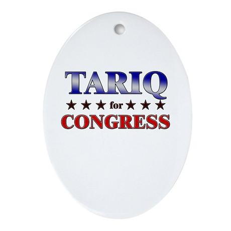 TARIQ for congress Oval Ornament