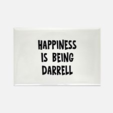 Happiness is being Darrell Rectangle Magnet