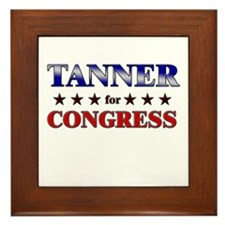 TANNER for congress Framed Tile