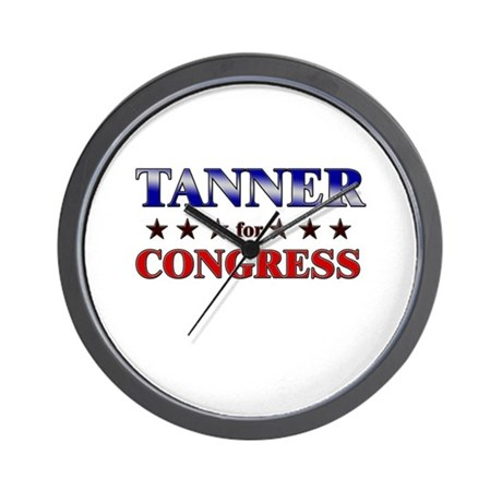 TANNER for congress Wall Clock