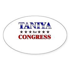 TANIYA for congress Oval Decal