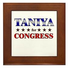 TANIYA for congress Framed Tile
