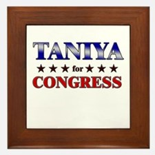 TANIYA for congress Framed Tile