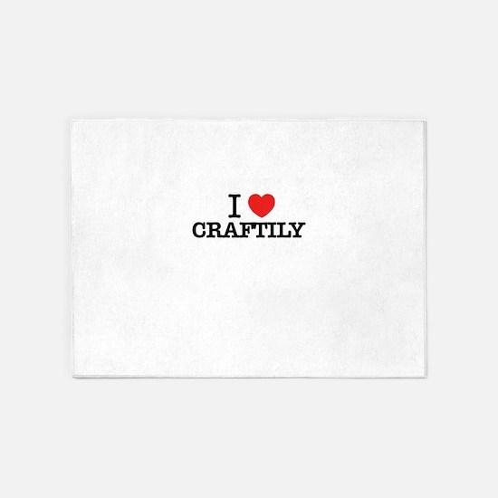 I Love CRAFTILY 5'x7'Area Rug